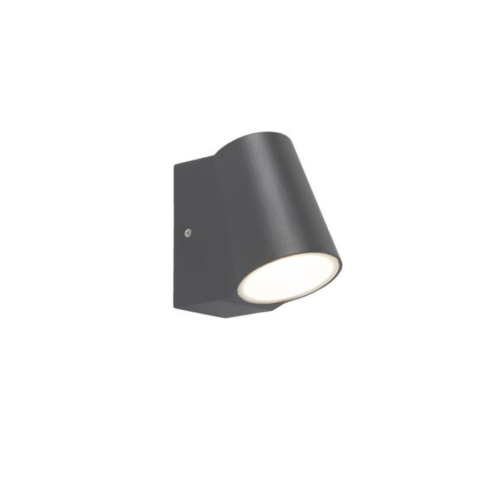 Modern Outdoor Wall Lamp Dark Grey Incl Led Uma