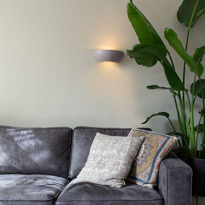 Industrial-semicircular-wall-lamp-concrete---Chatou