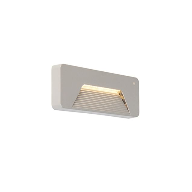 Modern-outdoor-wall-light-rectangle-incl.-LED---Pod