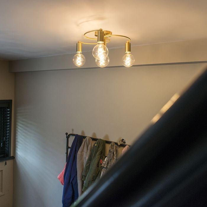 Art-Deco-Ceiling-Lamp-4-Brass---Facil