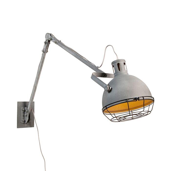 Industrial-adjustable-wall-lamp-metal---Rela