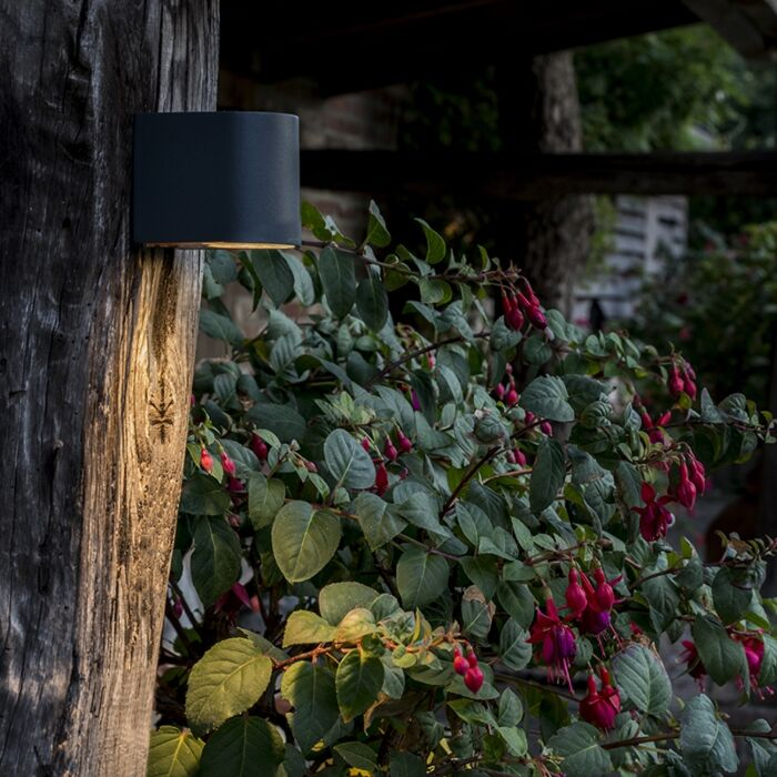 Modern-exterior-wall-lamp-dark-gray-IP44---Ben-1
