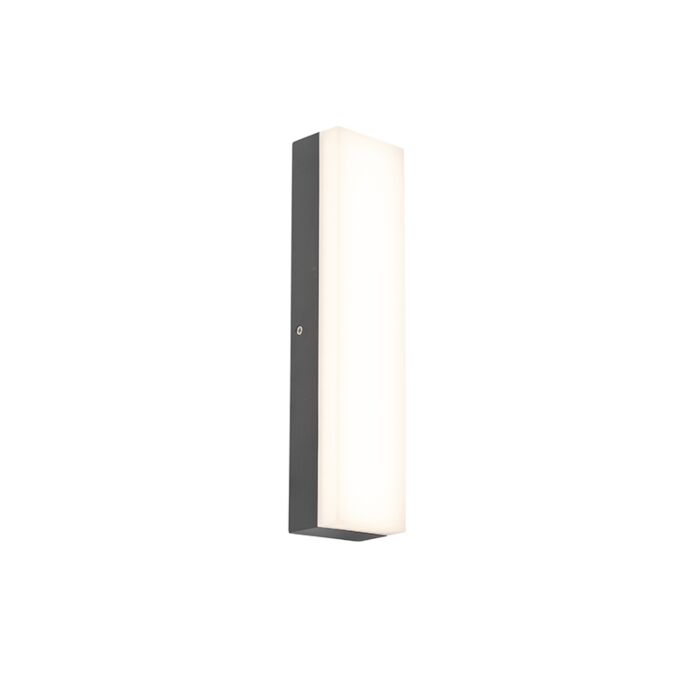 Modern-Outdoor-Wall-Lamp-Dark-Grey-incl.-LED---Opacus