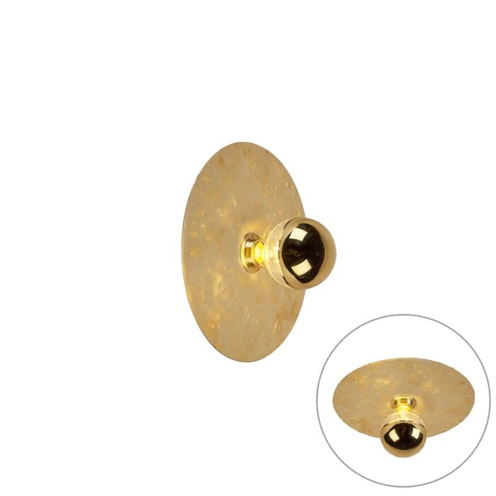 Modern-Round-Wall-Lamp-30cm-Gold---Disque