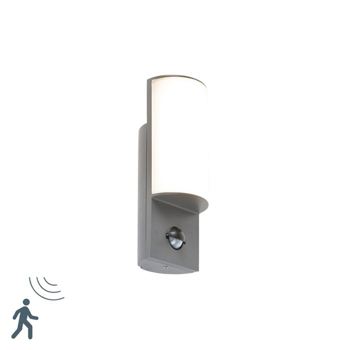 Modern-exterior-wall-lamp-dark-gray-with-motion-sensor---Harry