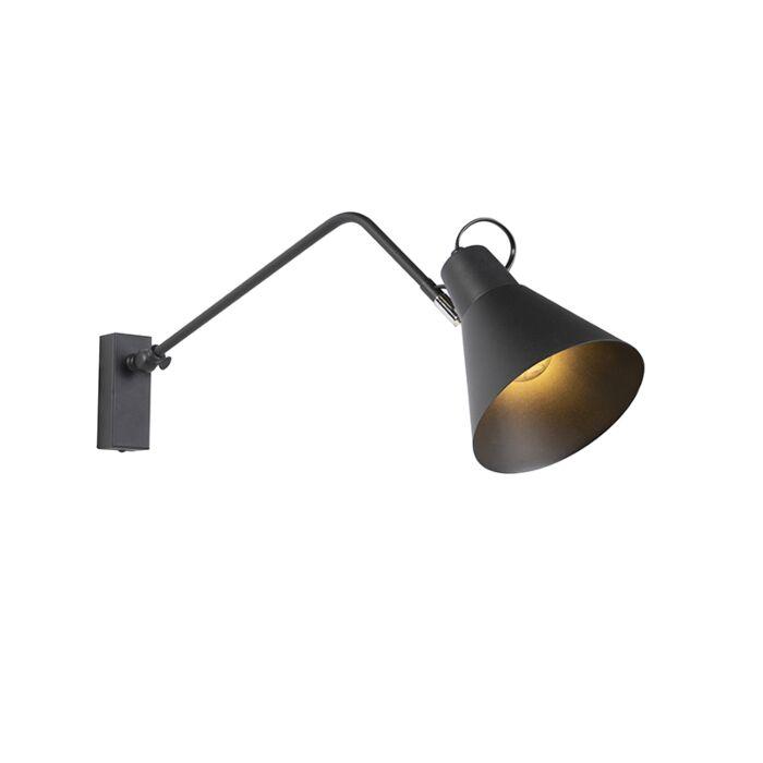 Vintage-Adjustable-Wall-Lamp-Black---Lune