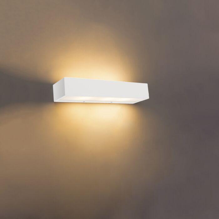 Design-oblong-wall-lamp-white-35-cm---Houx