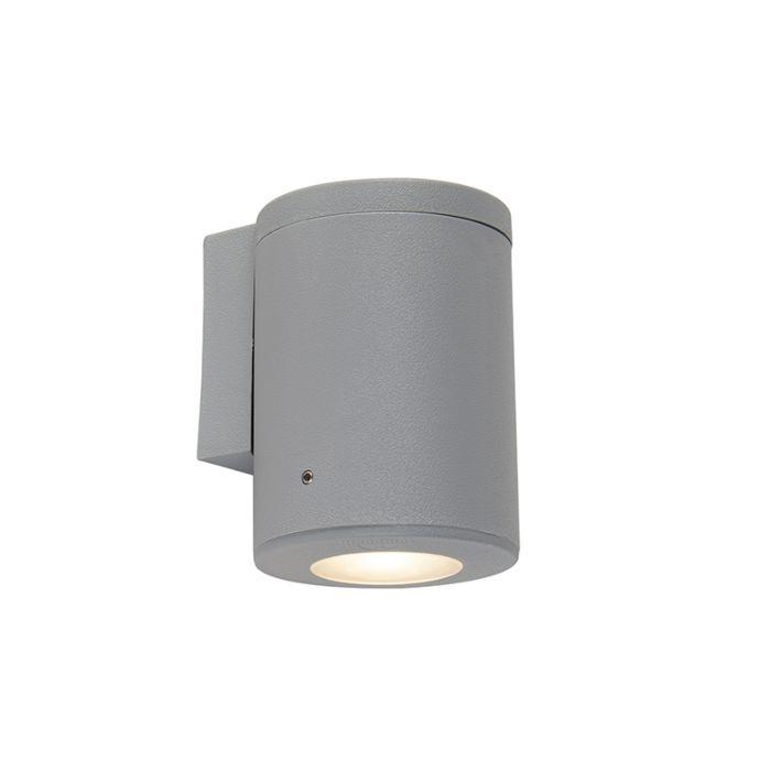 Modern-wall-lamp-gray-IP55-incl.-1-x-GU10---Franca