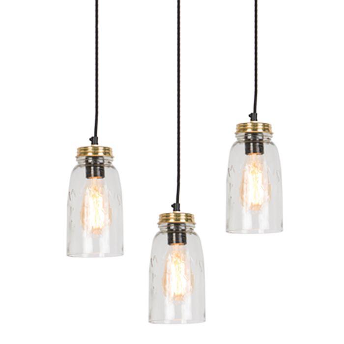Glass Lamp Shade Set of 3
