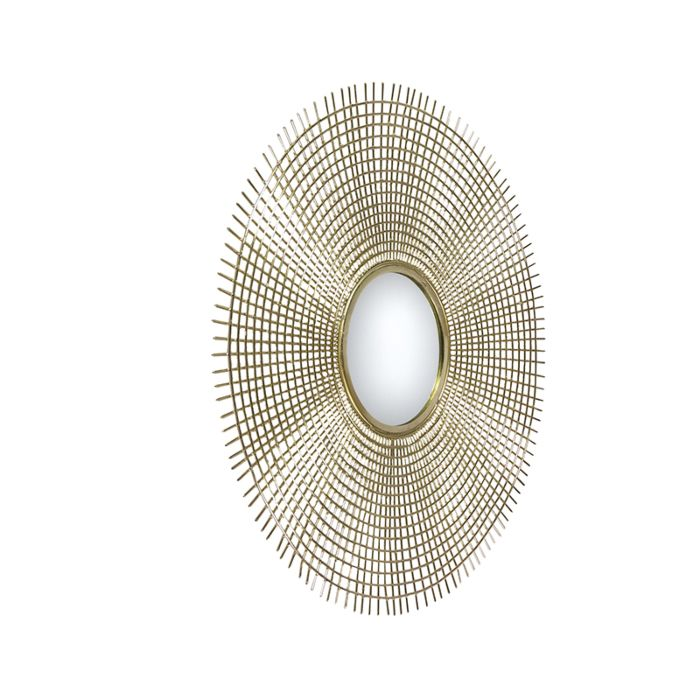 Art-deco-round-mirror-78-cm-gold---Edda