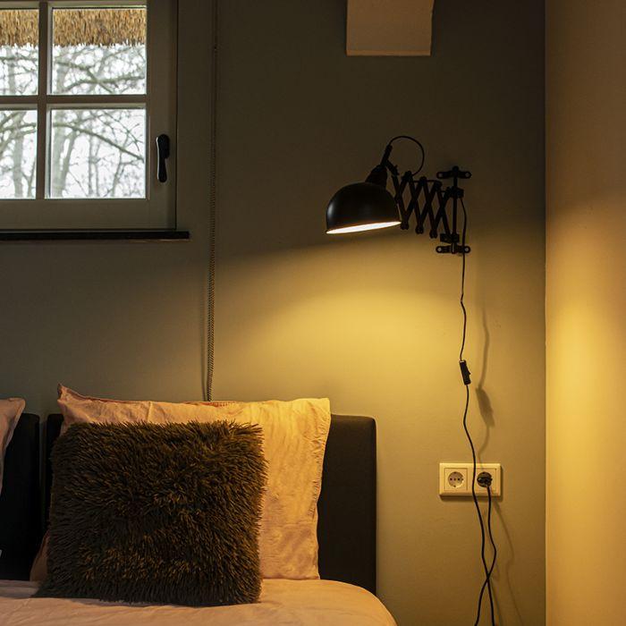 Industrial-wall-lamp-black-adjustable---Merle