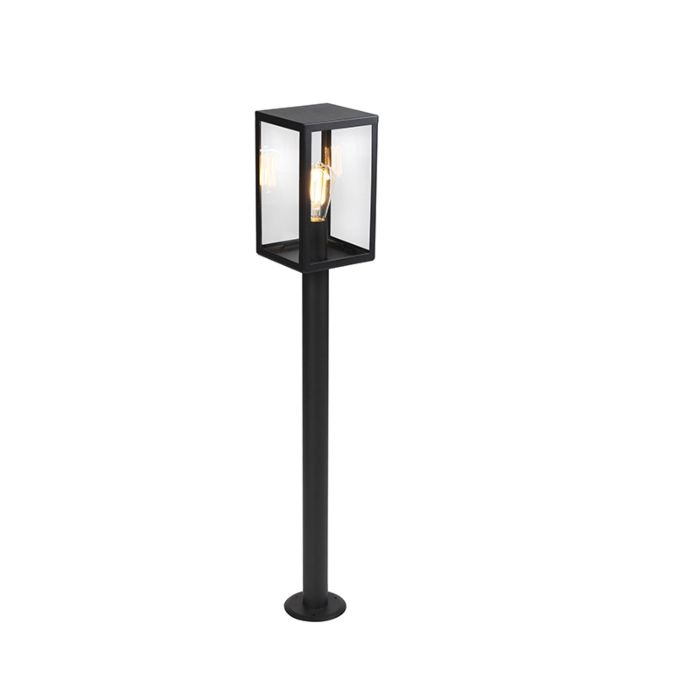 Modern-outdoor-lamp-black-with-glass-100.5-cm---Rotterdam