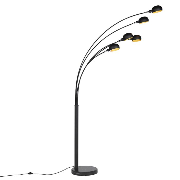 Modern-Floor-Lamp-5-Black---Sixties-Marble