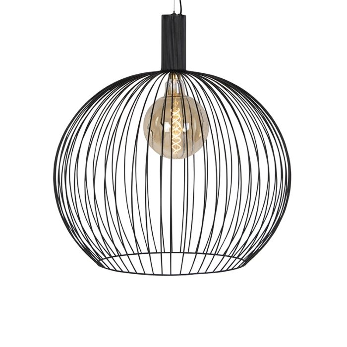 Modern Round Pendant Lamp 70cm Black