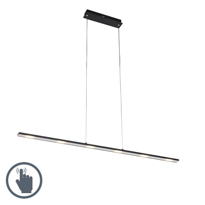 Design-hanging-lamp-black-incl.-LED-with-touch-dimmer---Platinum