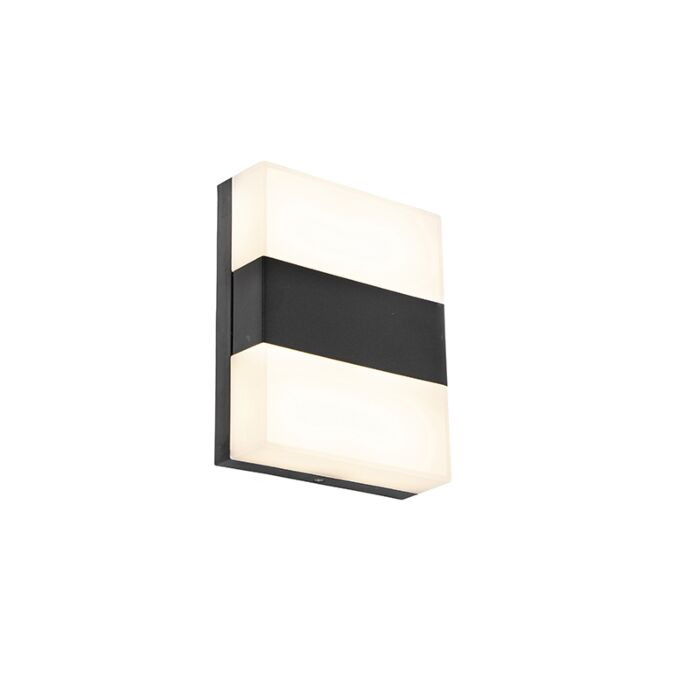 Modern-outdoor-wall-lamp-black-IP44-incl.-LED---Dualy
