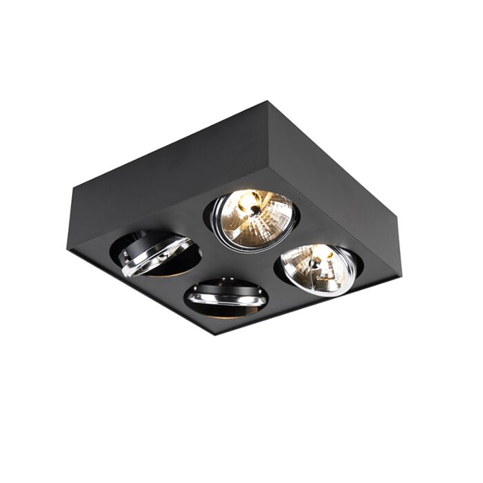 Modern-Square-Spotlight-4-Black-incl.-G9-LED---Kaya-