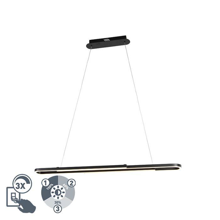 Modern-Pendant-Lamp-Extendable-Black-incl.-LED---Romeo