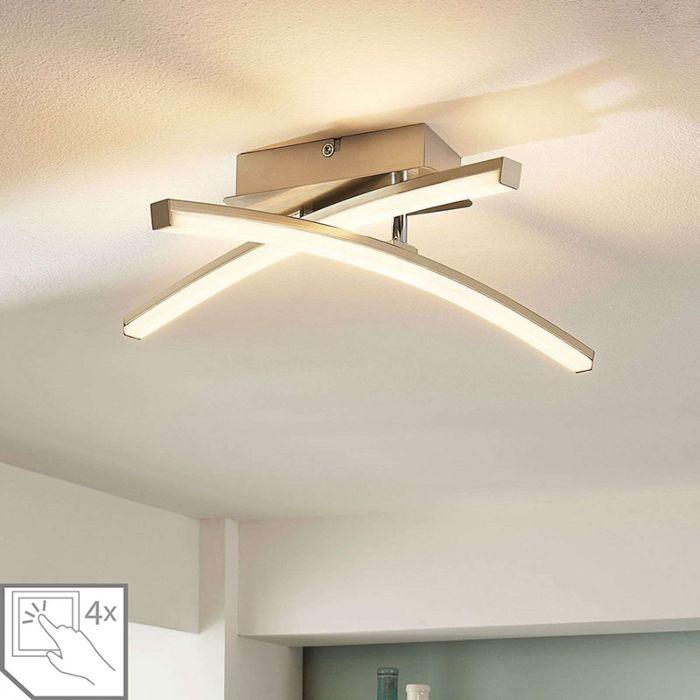 Modern Ceiling Lamp Chrome Incl Led 4