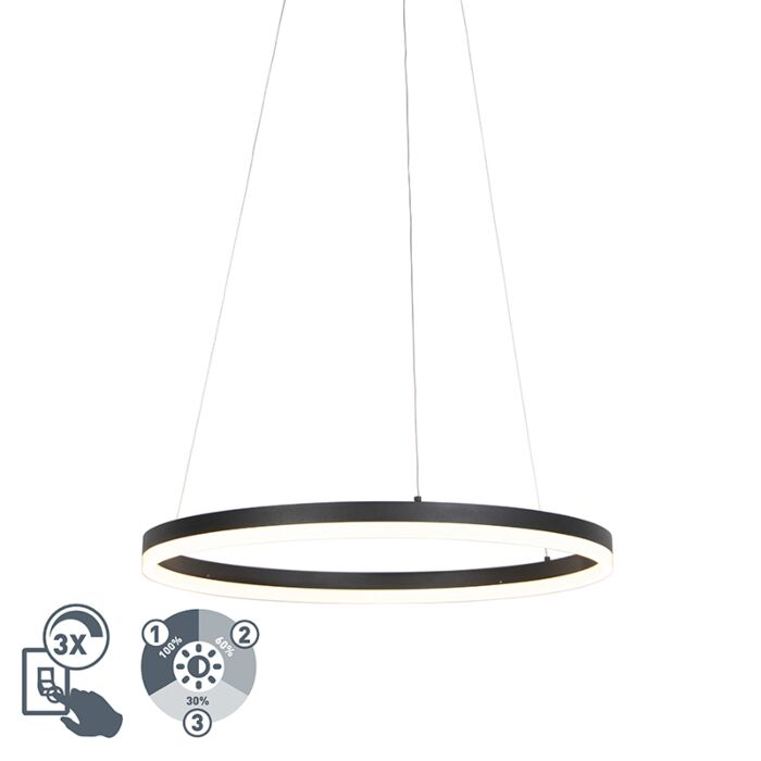 Design-ring-hanging-lamp-black-60cm-incl.-LED-and-dimmer---Anello