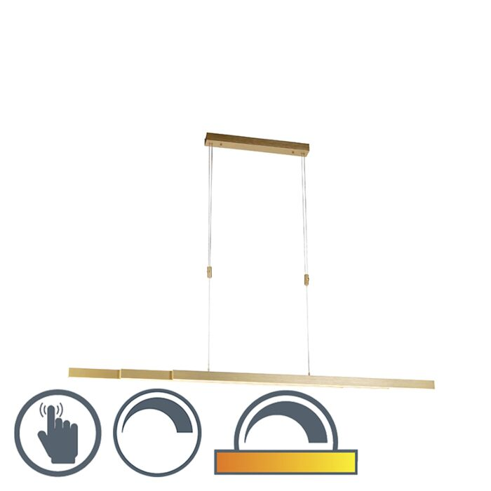Adjustable-hanging-lamp-brass-dim-to-warm-incl.-LED---Juliet