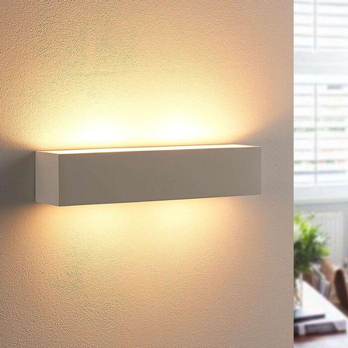 Modern-elongated-plaster-wall-lamp-incl.-2-x-G9---Tjada