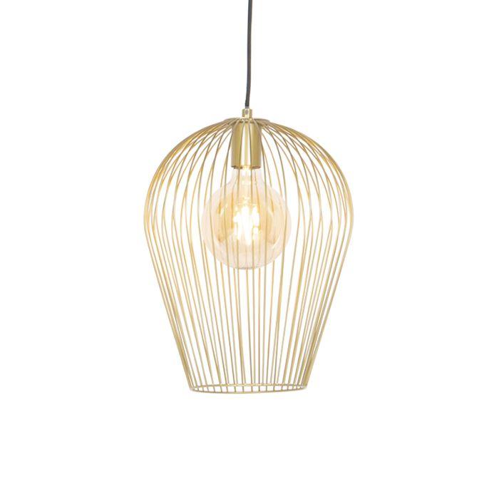 Design-hanging-lamp-gold---Wire-Ario