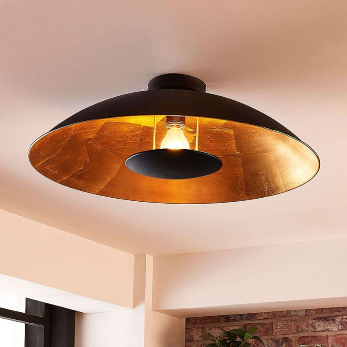 Modern Ceiling Lamp Black With Gold