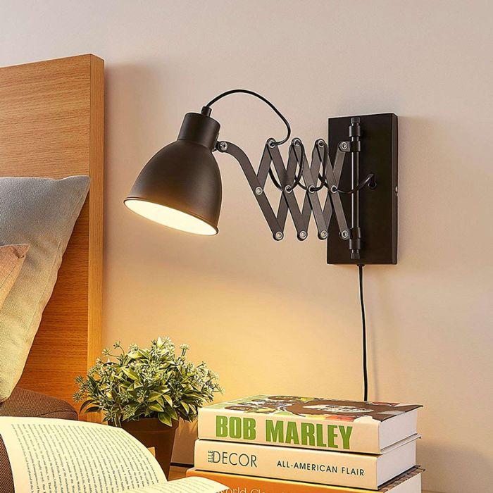 Wall Lamp Black Harmonica Merle