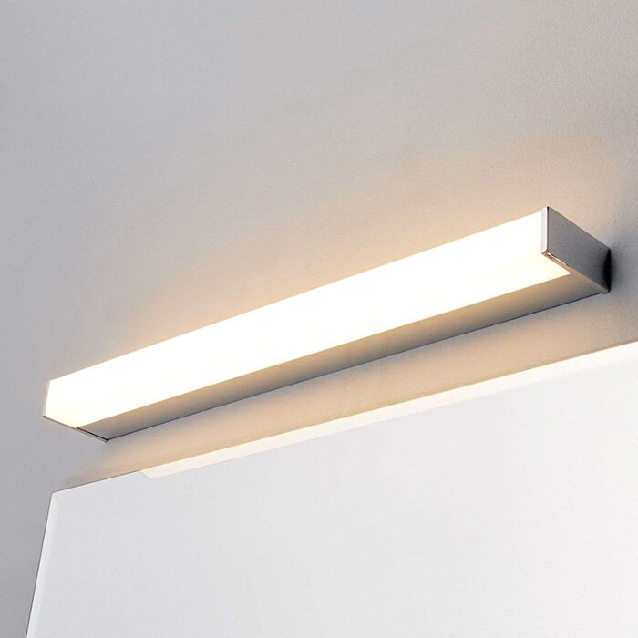 Modern Bathroom Lamp Chrome 58 Cm Incl