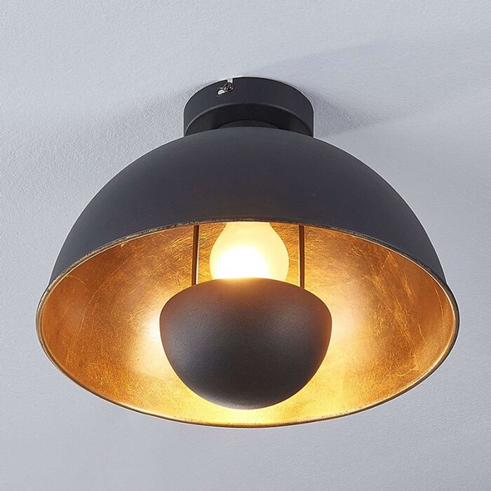 Industrial-ceiling-lamp-black-with-gold---Magna