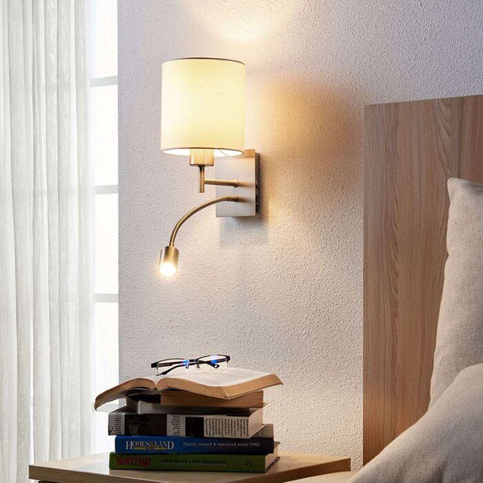 Design-sleek-wall-lamp-white-incl.-LED---Camilo